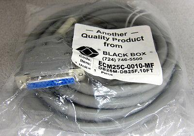 Black Box RS-232 Cable 25 Conductors MF 20Ft ECM25C-0020-MF New in Bag