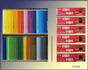 72-1-KOH-I-NOOR-Kuenstler-Farbstifte-POLYCOLOR-3800-inklusive-Blender