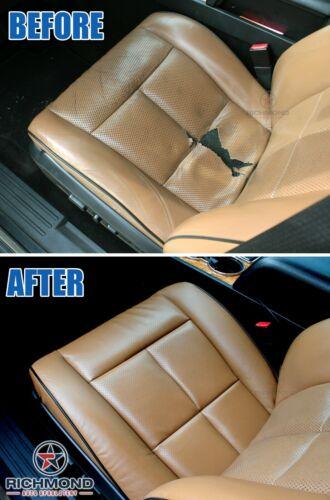 2001 2002 GMC Sierra SLT HD Driver Side LEAN BACK Bucket Leather Seat Cover TAN