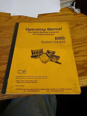 MANUAL HETRONIC GA610 OPERATING MANUAL RADIO REMOTE