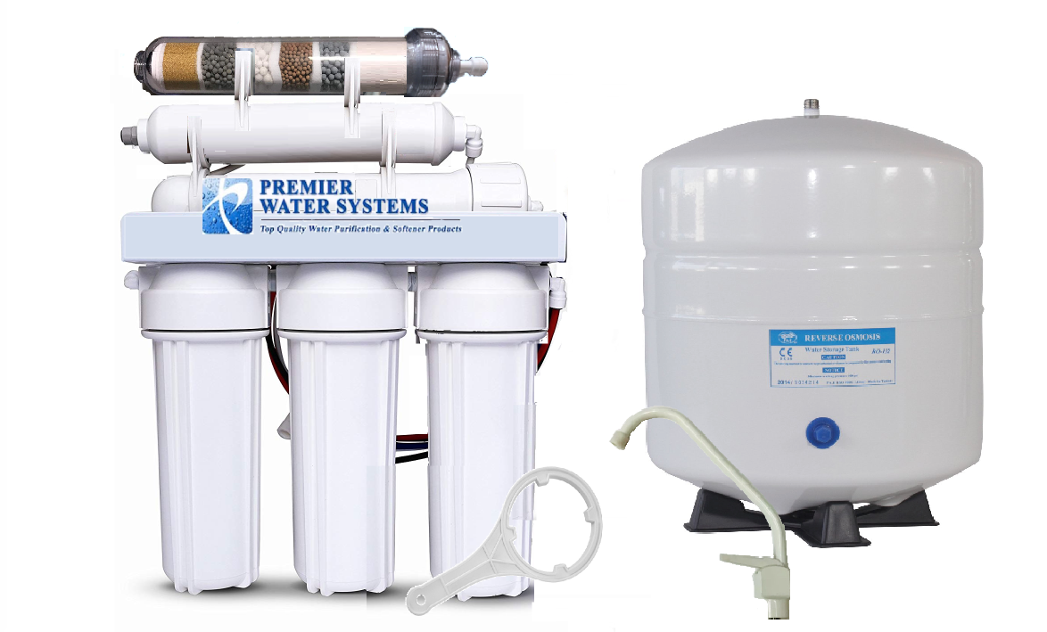 6 STAGE ALKALINE Filtration pH plus  ORP neg Reverse Osmosis Water System 75 GPD