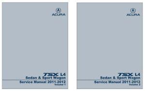 2011 2012 acura tsx l4 sedan sport wagon shop service repair rh ebay com 2012 acura tsx service manual 2012 acura tsx service manual
