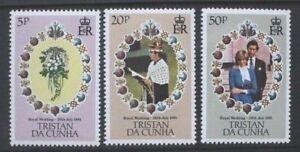 TRISTAN-DA-CUNHA-1981-Royal-Wedding-Set-of-3-Mint-Never-Hinged-SG308-310