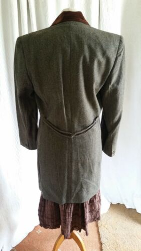 10 Hacking Riding Sz Grace Viser Pure Wool Ladies Jacket New Grey Collection pfCqxR