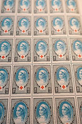 Europa Feuille Sheet Briefmarke Kreuz Rot Nr.422 X25 1939 Neuf Luxe Mnh Bereitstellung Von Annehmlichkeiten FüR Die Menschen; Das Leben FüR Die BevöLkerung Einfacher Machen