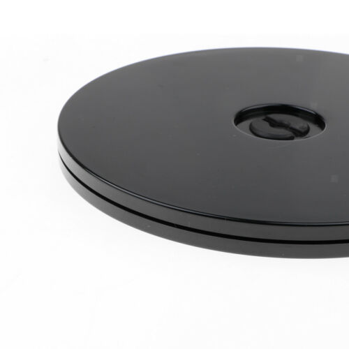 2 Pieses 6 inch Black 360° Rotating Turntable Acrylic Rotating Display Stand