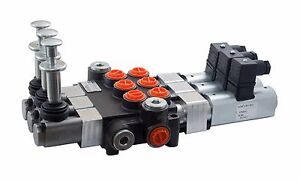 Details about 3 spool hydraulic solenoid directional control valve 13gpm  12V SAE +hand control