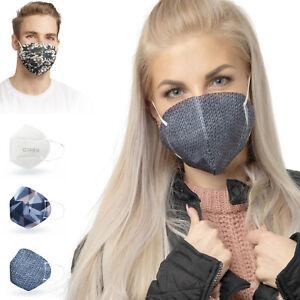 ALB Stoffe® CoverMe - 3 Cover HeiQ-Viroblock +1er Pack, MIX 3, Nasen-Mund-Masken