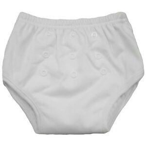 Alva White Washable Reusable Baby Potty Training Pant Bamboo Inside Breathable