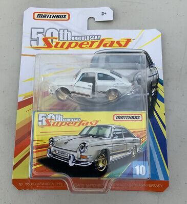 Very Nice! Matchbox 50th Anniversary Superfast /'65 Volkswagen Type 3 W// Box