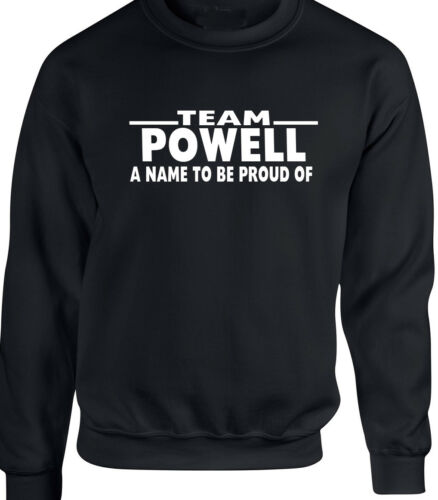 POWELL Men/'s Sweatshirt Family Name Surname CAN CHANGE 2 ANY NAME Birthday