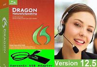 V 12.5 Dragon Naturallyspeaking Home 12 Headset Vansonic Usb