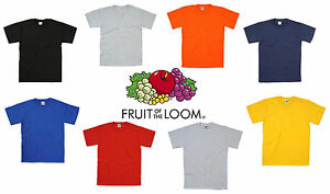 New-Fruit-of-the-Loom-Heavy-Cotton-Plain-Blank-Short-Sleeve-Cotton-T-shirt