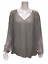Laurie-Felt-Women-039-s-Woven-Pleated-Shoulder-Detail-Blouse-Grey-1X-Plus-Size thumbnail 1