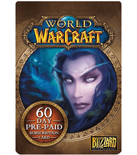 World of Warcraft 60 Day Pre-Paid Subscription Card NORTH AMERICAN SERVERS ONLY!