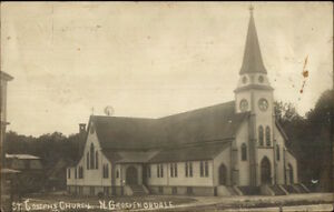 North-Grosvenordale-CT-Church-c1910-Real-Photo-Postcard