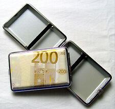 200 Euro Zigarettenetui Metall 12 Zigaretten Banknote Geldschein Euros
