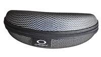 Oakley Sunglasses Gray Oil Rig Black Grey Hard Zipper Protection Case Vault
