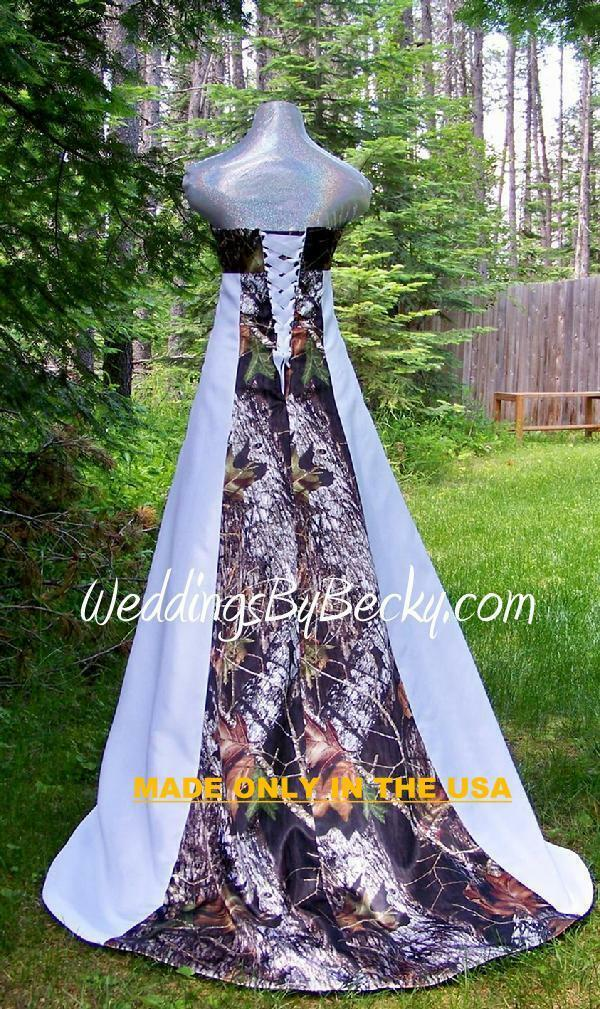 1cb17f3a54ca6 NEW Camo Wedding Gown -Mossy Oak SATIN camo- MADE ONLY IN USA ...