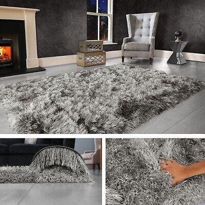 Dark Grey Large Gy Floor Rug Soft