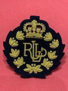 Details about Ralph Lauren Crown Crest Gold Bullion Badges,Blazer Badges