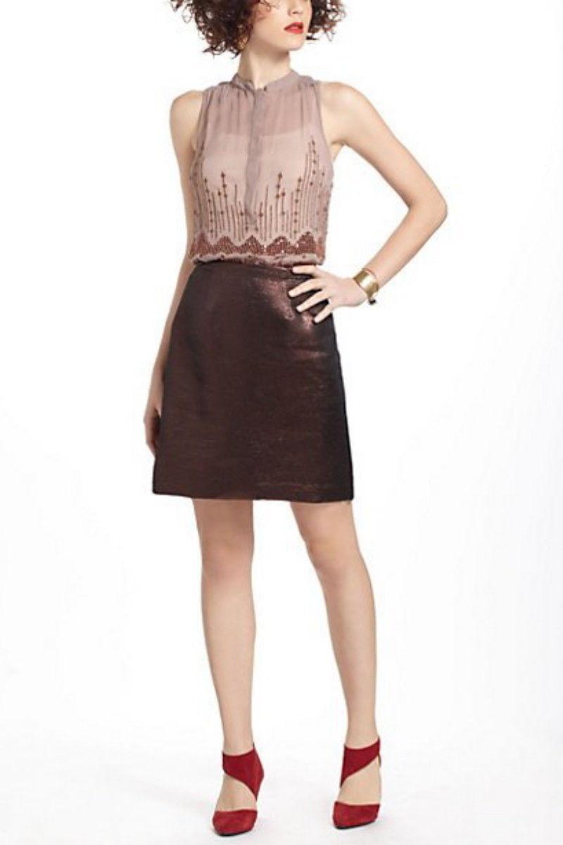 Anthropologie A-Line Brocade Shimmer Skirt by Leifsdottir NWT Various Sizes