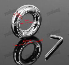 Stainless Steel Ball Stretcher Man Enhancer Chastity Ring Delay Time I.D. 33mm