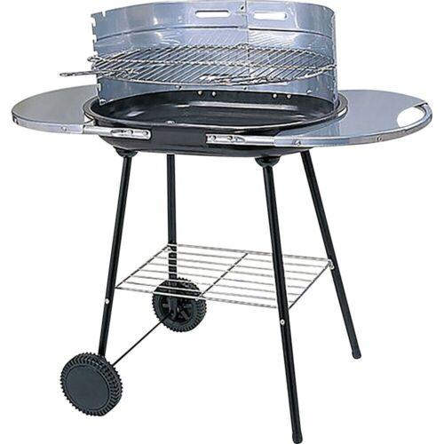 Tout Acier Barbecue au charbon de bois jardin barbecue Noir Réglable Grill Prima