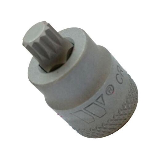 2551-M14 S2 Steel Socket Bit STUBBY Werkzeug Spline XZN M14