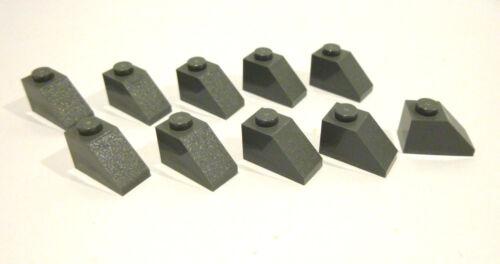 10 x LEGO® 3040 Systemstein,Dachsteine in neudunkelgraue 1x2//45° Neuware.