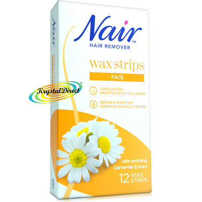 Nair Hair Remover Facial Wax Strips With Camomile Extract For Face Ebay