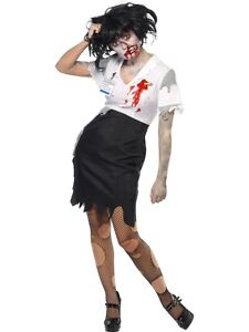 Image is loading Work-To-Death-Ladies-Halloween-Costumes  sc 1 st  eBay & Work To Death Ladies Halloween Costumes | eBay