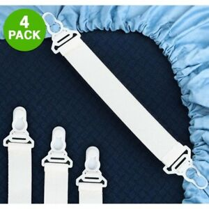 4-Pack-Elastic-Sheet-Strap-Grippers-Fits-Any-Bed-EASY-TO-USE-BRAND-NEW