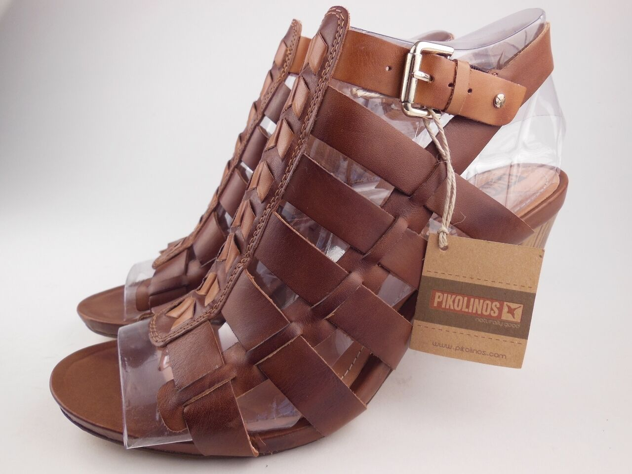 PIKOLINOS pinks Brandy Leather Heeled Sandals Women's Size 41 NEW