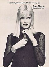 PUBLICITE ADVERTISING 114 1972 JEAN DESSES sweaters parfums
