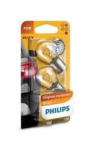 2x-PHILIPS-Vision-P21W-12498B2-Halogen-Interior-Signal-12V-21W-BA15s