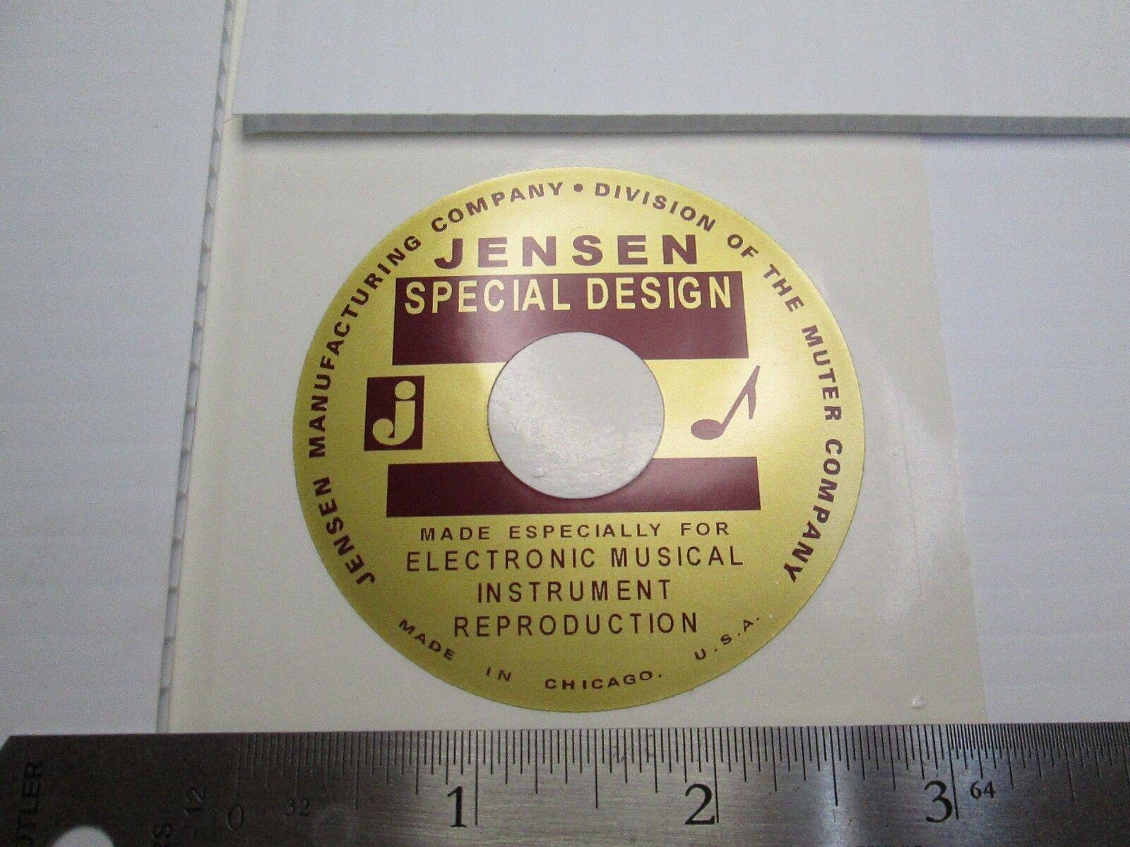 """Jensen /""""Special Design/"""" woofer Loudspeaker Horn Driver  /""""DECAL/"""" New!"""