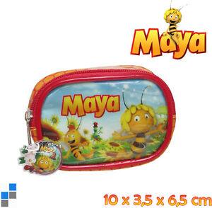 Muenztasche-Portmonee-Geldboerse-Geldbeutel-Kinder-Tasche-Biene-Maya-Maja