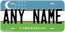 Uzbekistan Flag Novelty Car Auto License Plate