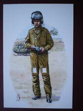 POSTCARD ARMY AIR CORPS - CORP AIRCREW GUNNER 1980S ALIX BAKER