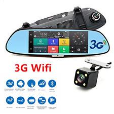 "7"" 3G HD 1080P Car DVR Video Recorder WIFI Dual Lens Rearview Mirror Dash Cams"