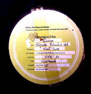 Metal 35mm Film Canister,  Thames TV, Colgate Palmolive, Overboard Advert