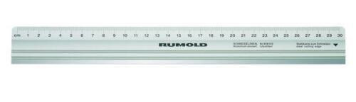 30cm Rumold Schneidelineal Aluminium mit Stahlkante