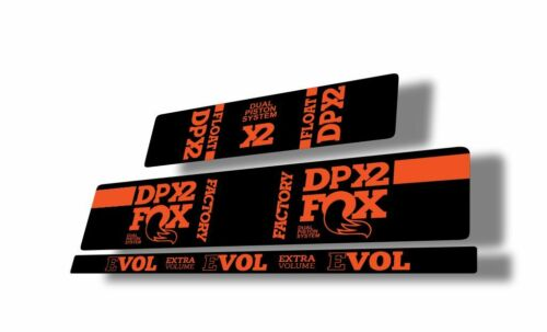 FOX Float DPX2 Rear Shock Suspension Sticker Factory Decal Kit Adhesive Orange
