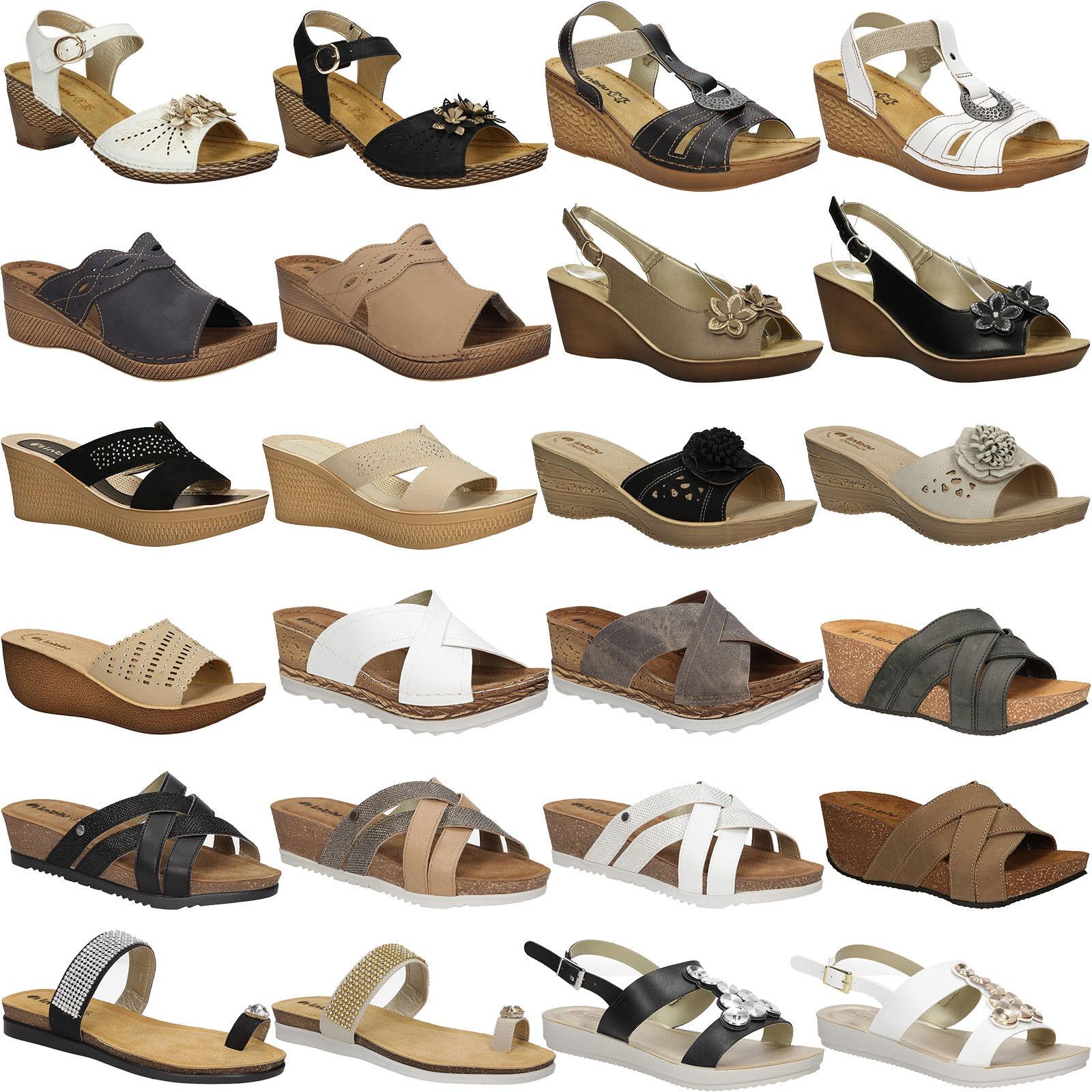 Damen Sandaletten Inblu Pantoletten Sommer Modisch Komfortable Gr. 36-41 SALE