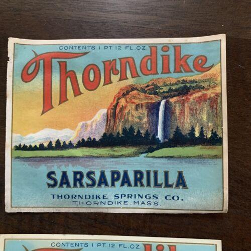 New Of Thorndike  Massachusetts Vintage Soda Labels 4 Thorndike Springs Co
