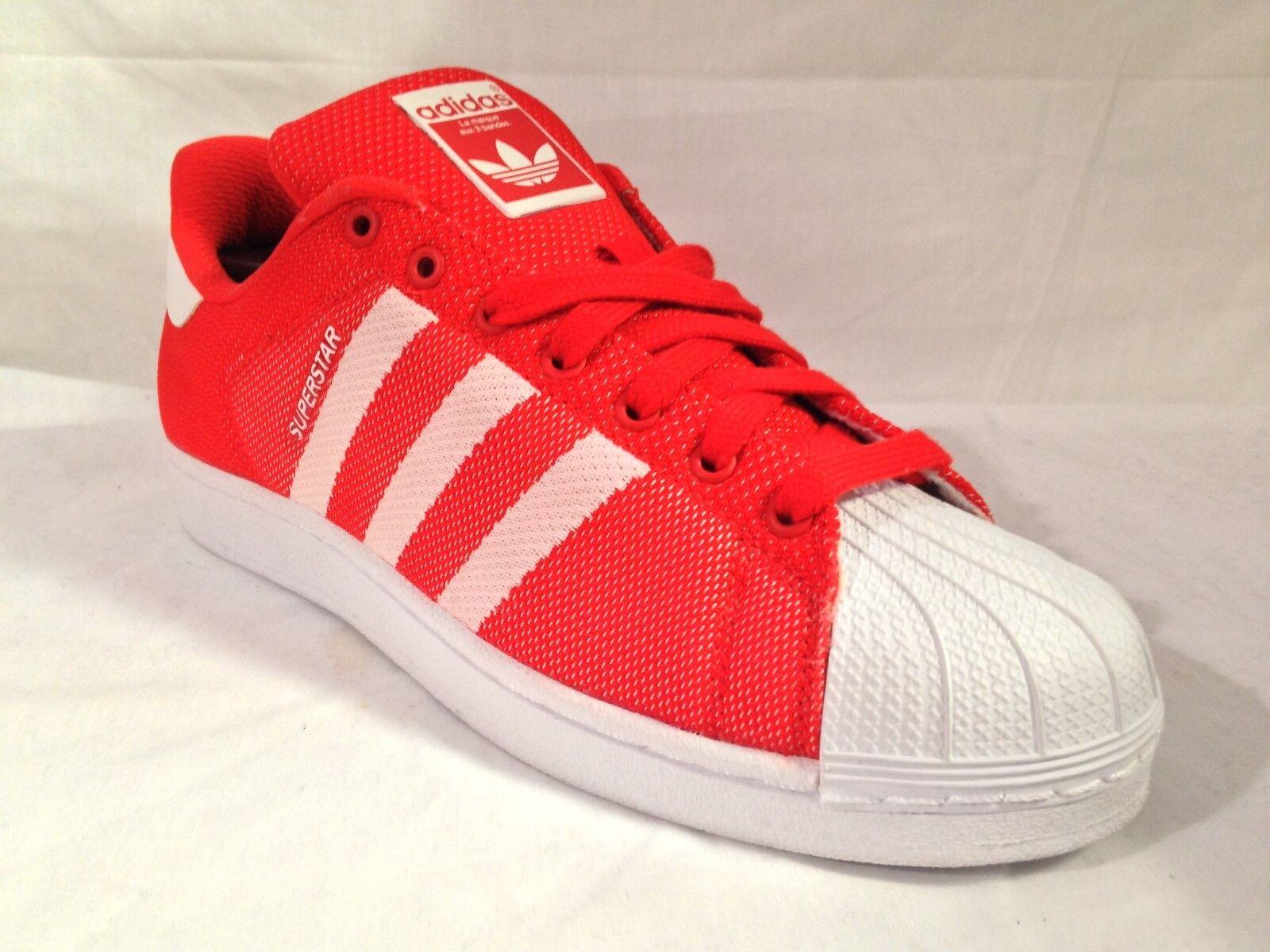 Para Hombre BB4976 Adidas superstar tejido Rojo/Blanco/Rojo BB4976 Hombre tamaños: _ 8 _ 8.5 49b484