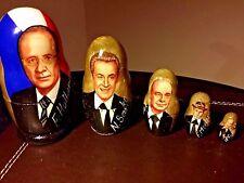 French Presidents NESTING MATRYOSHKA Doll Russian Doll 5 pc