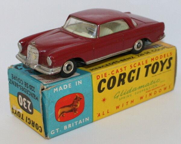 Corgi Toys 230-Mercedes Benz 230SE COUPE-ROJA
