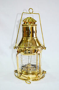 Nautical Brass Ship Oil Lamp Boat Lantern Maritime Collectible Home Decor
